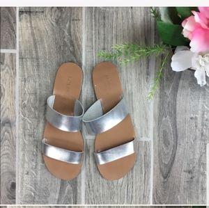 J. CREW Slide On Flat Sandals